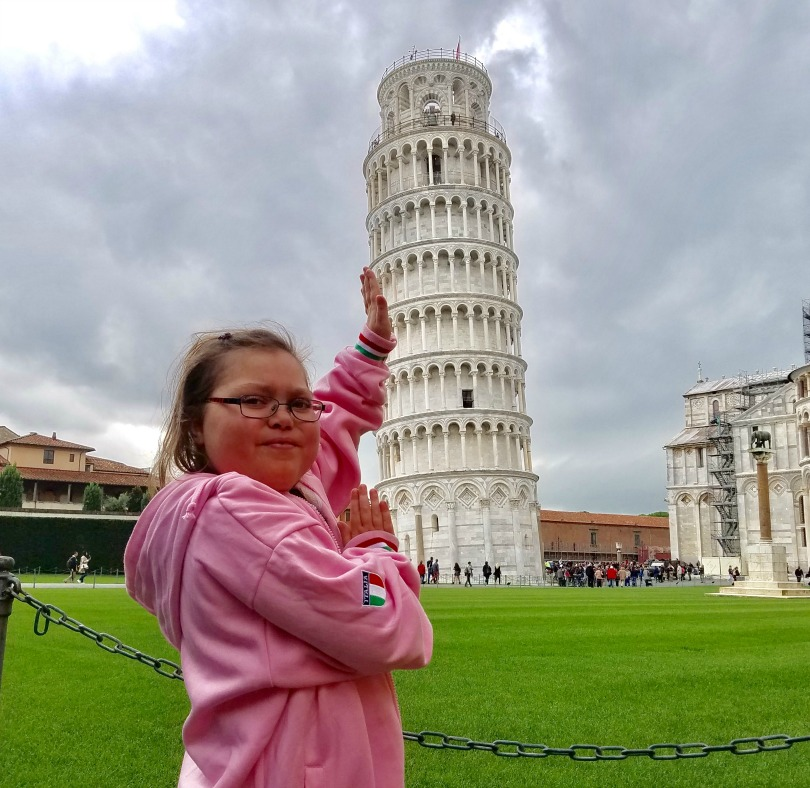 Abby at the Leaning Tower of Pisa