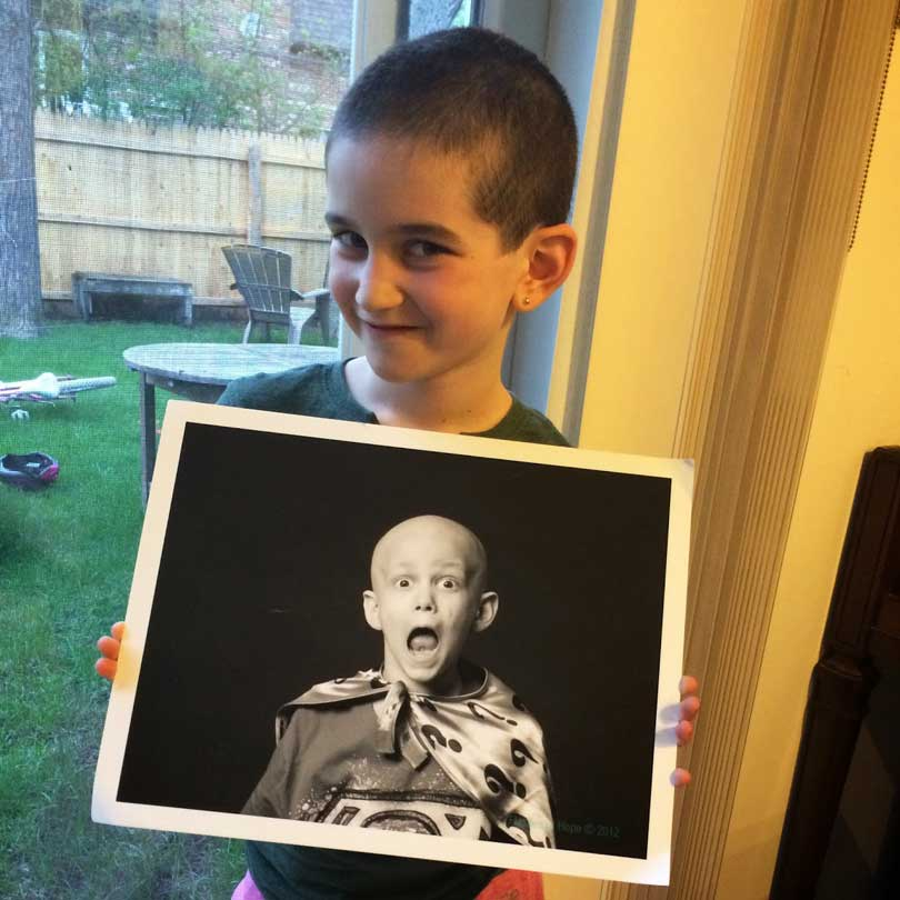 Yael with a photo of her brother Sammy