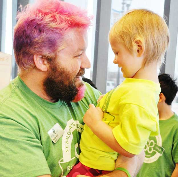 Mike-Waid-and-Haven-St-Baldricks-pediatric-cancer-charity