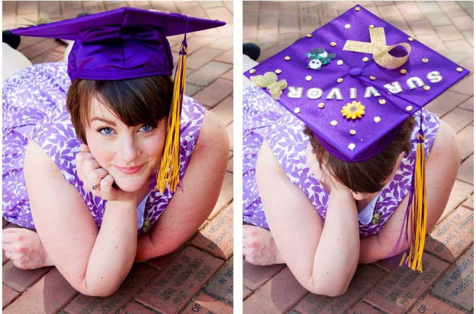 Sarah Swaim on graduation day