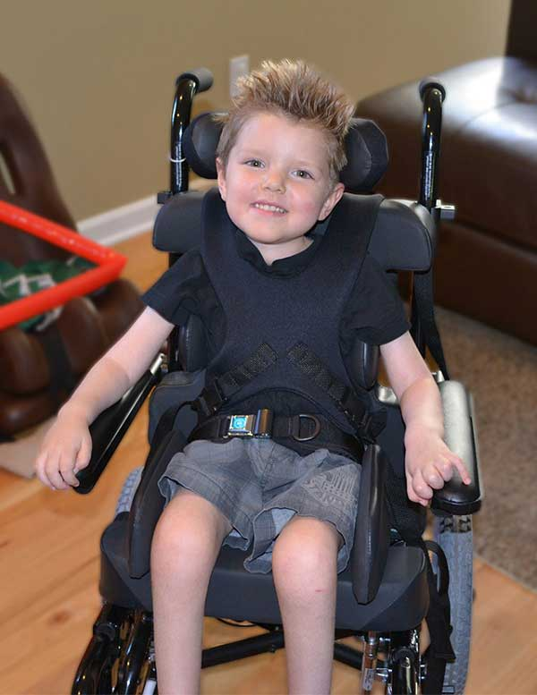 Ty in his wheelchair