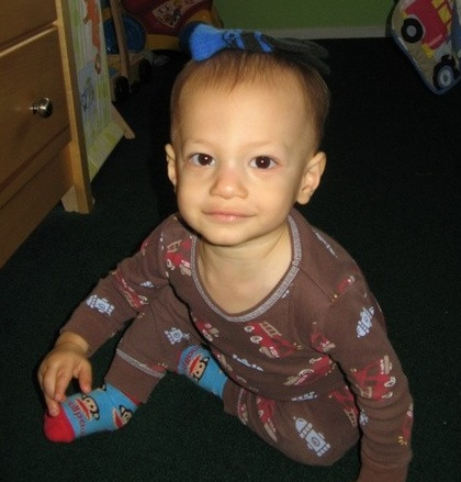 Micah before he was diagnosed with neuroblastoma, a type of cancer in children