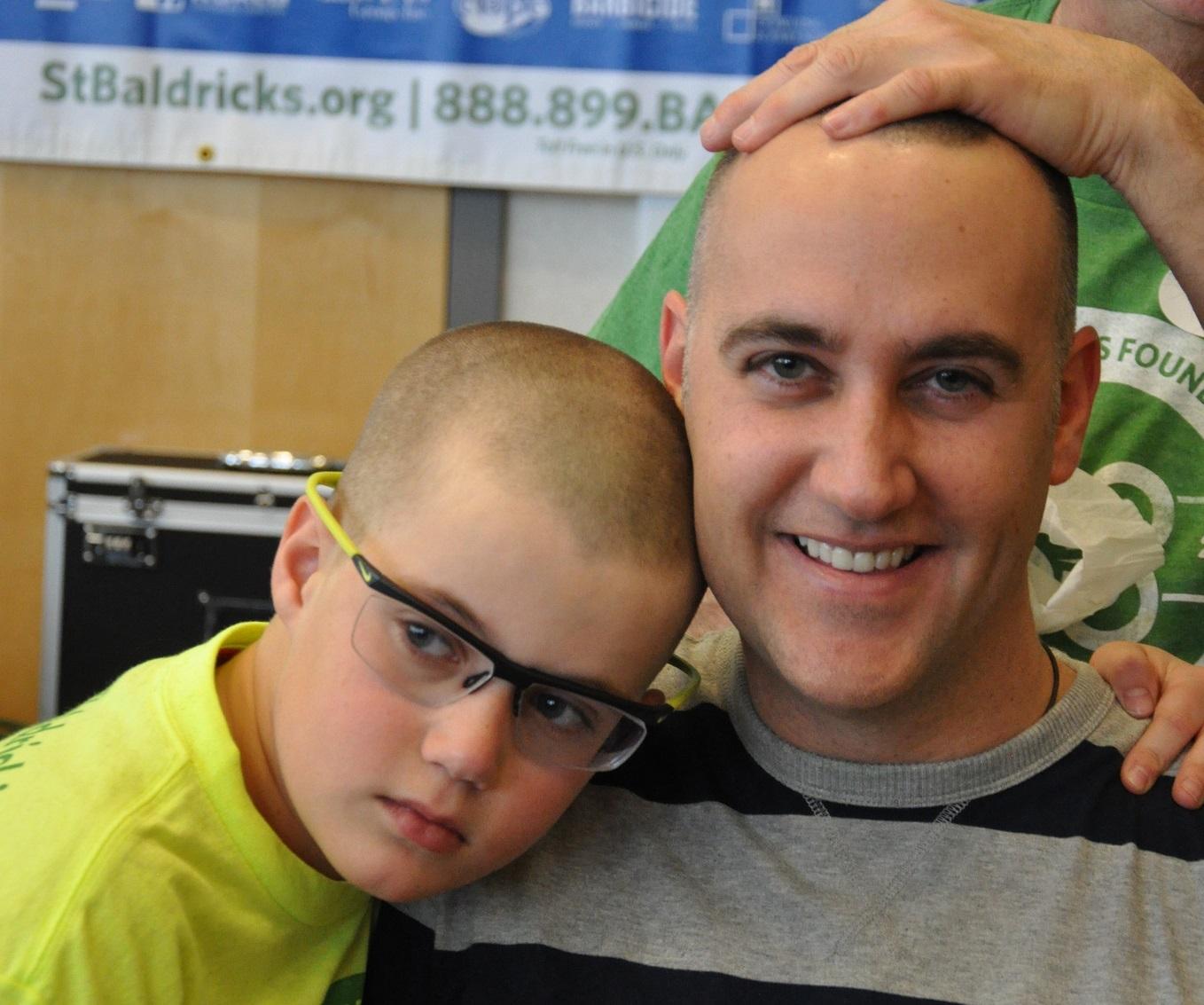 Bald father and son