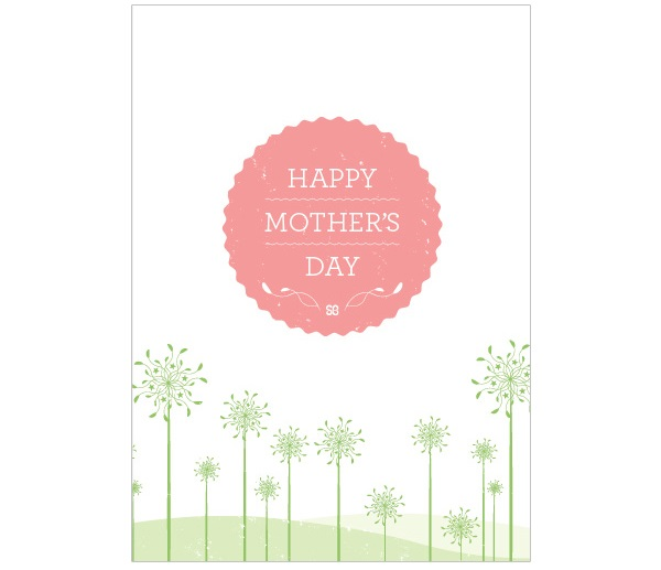 Front: Happy Mother's Day