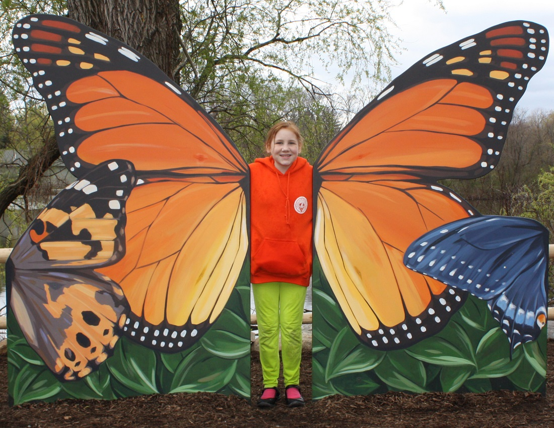 Grace with butterfly wings