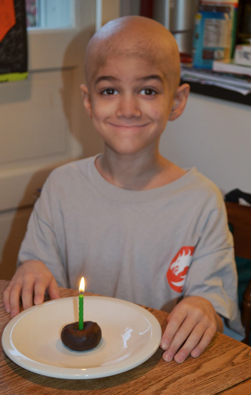 Sam on his 8th birthday