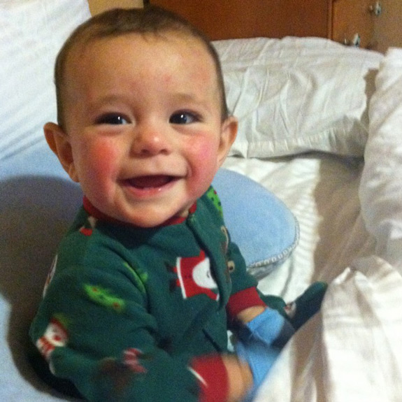 Jonah was born healthy, with no symptoms of childhood cancer