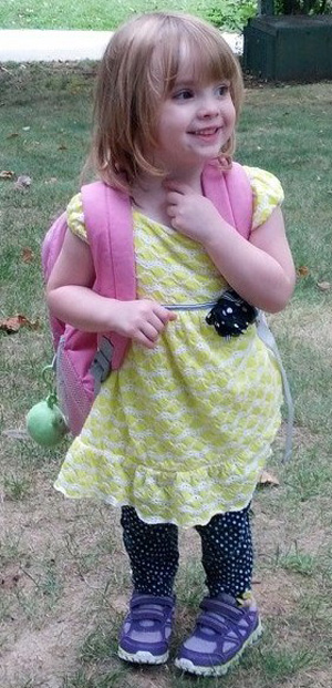 Maddie got to go to her first day of preschool after being declared NED, or no evidence of disease