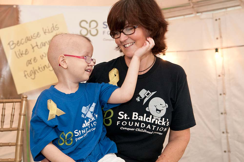 Gaylene Meeson and daughter Hannah at the first Heroes for Hannah St. Baldrick's event