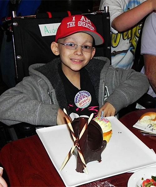 Aiden on his birthday