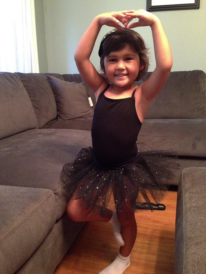 Aubrey being a ballerina