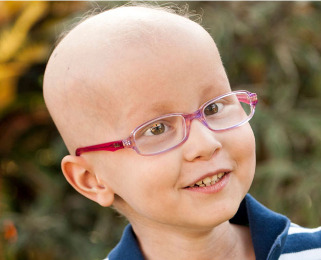 Hannah Meeson while in treatment for medulloblastoma
