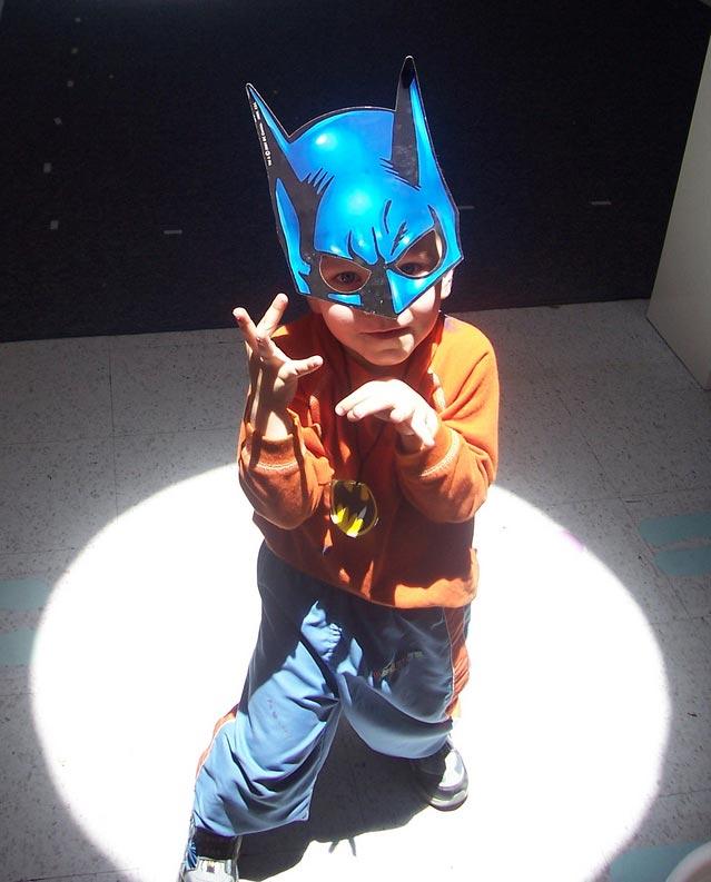 Mason as Batman