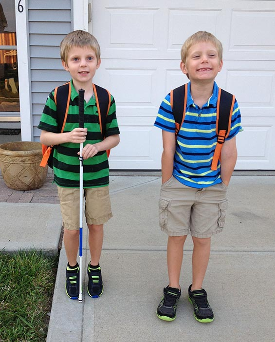 Matthias and Magnus starting school
