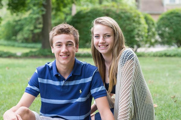 Ambassador Aaron with his sister.