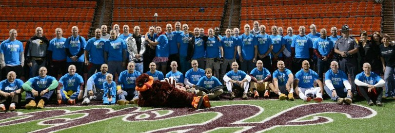 The Virginia Tech baseball team after their St. Baldrick's fundraiser