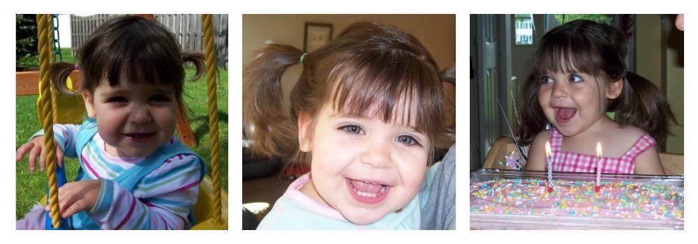 Juliana before she was diagnosed with pediatric leukemia