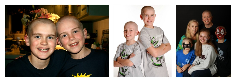 The Whitney family at St. Baldrick's events in 2011, 2012 and 2012