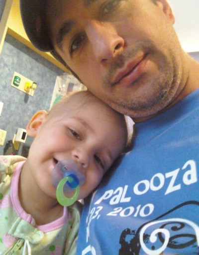Mike and Juliana in the hospital