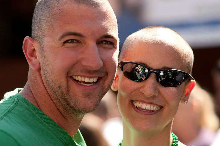 Dr. Yael Elfassy-Conner shaves with St. Baldrick's at her Savannah, Georgia event