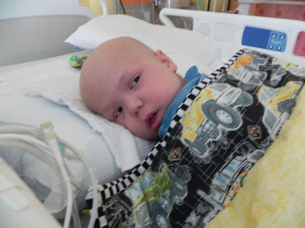 Clayton after his bone marrow transplant.