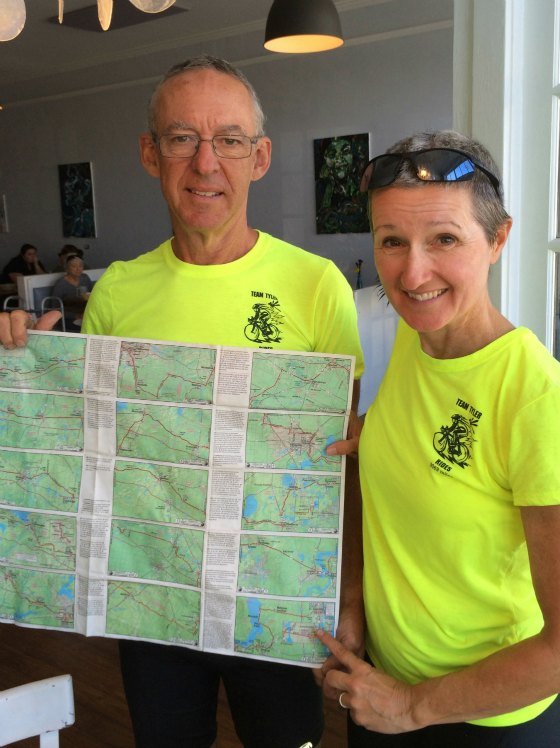 Kim and Jon pose with their final map