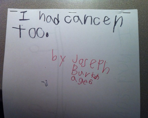 The cover of Joseph's book, titled 'I Had Cancer Too'