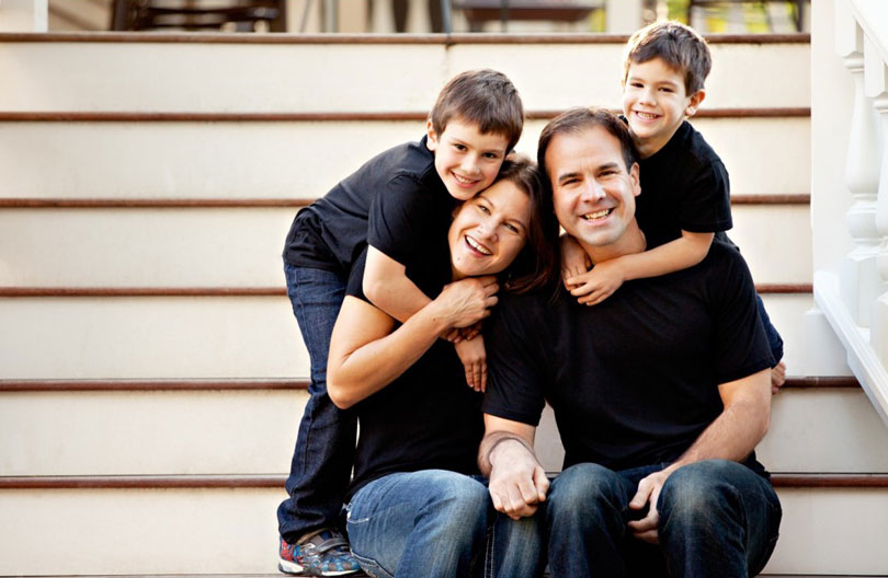 Austin and his family.
