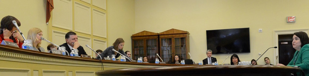 Danielle Leach testifies to Congress about childhood cancer.