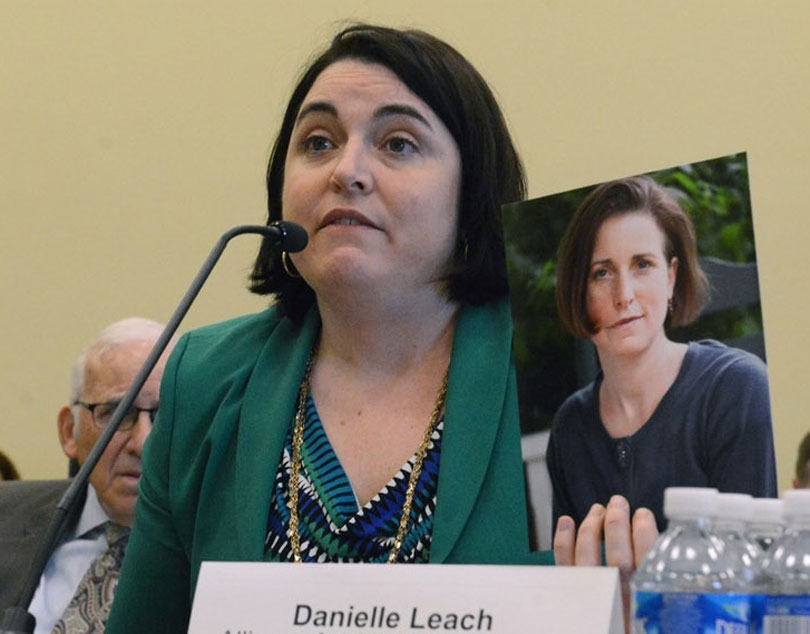 Danielle Leach testifies to Congress about her sister.