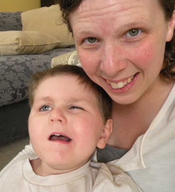 Nicole and Miles, not long before he passed away.