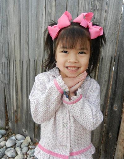 Daisy before she was diagnosed with medulloblastoma, a pediatric brain tumor