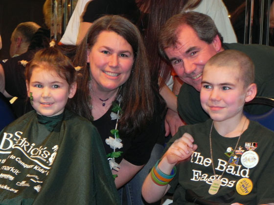 Joey's family before a shave in 2011