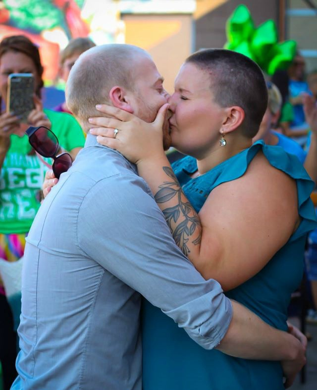 Caleb and Ashlee kiss after the proposal