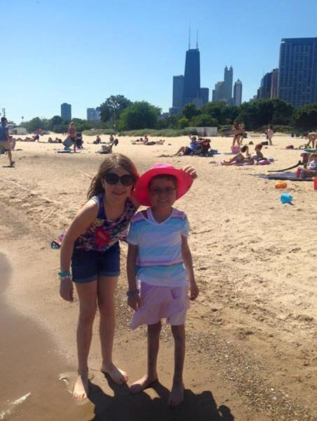 Abby and M spend time at the beach
