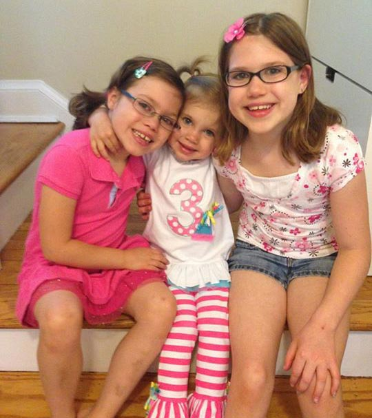 Abby and her sisters before relapse