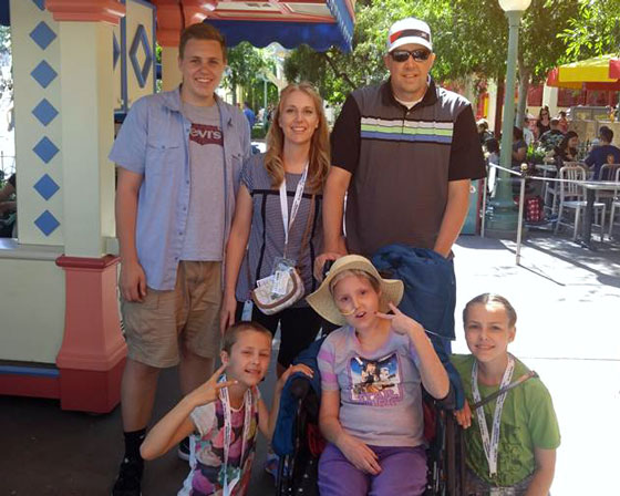 Avery's family take a trip to Disneyland