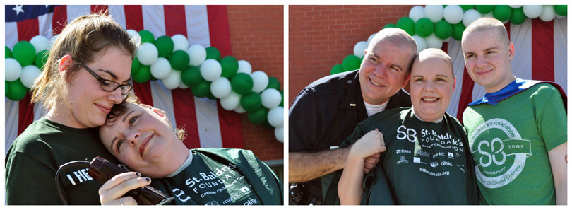 The Doyle Family at a St. Baldrick's event