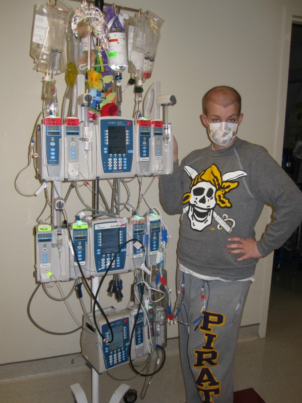 Ambassador Sarah with her chemotherapy medication