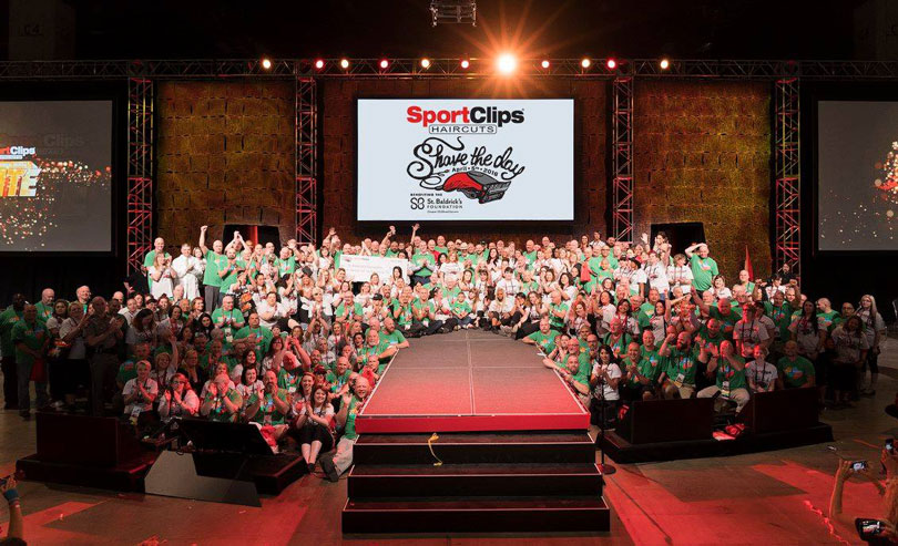Sport Clips Shave the Day group photo