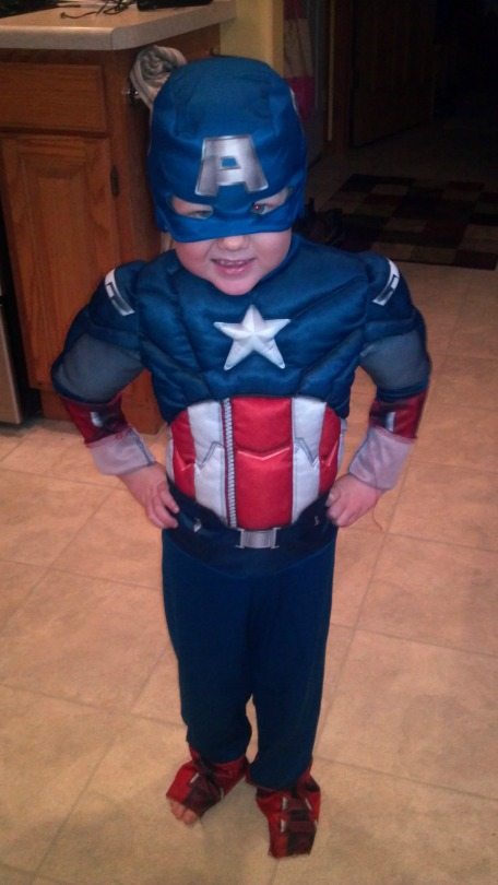 Will dressed as Captain America
