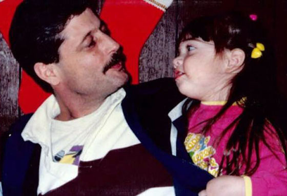 Corey Haynes and her father