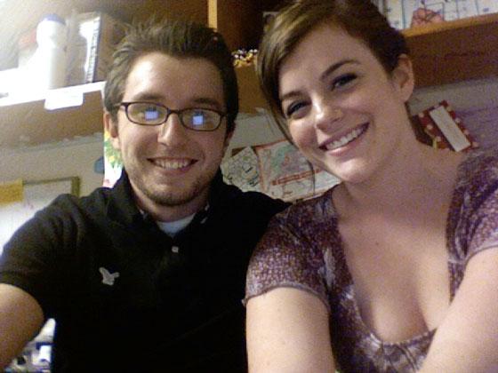 Sarah and Patrick smile