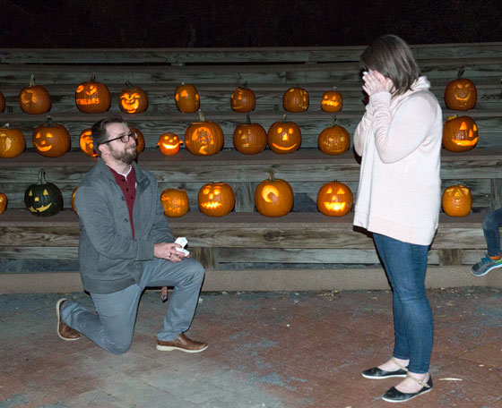 Patrick proposing at camp