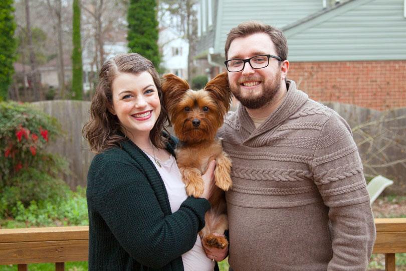 Sarah and Patrick with dog