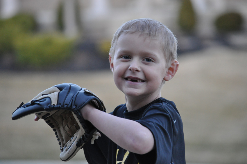 Holden and his baseball glove