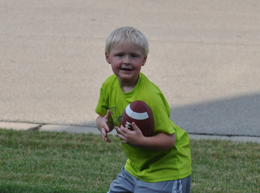 Holden playing football