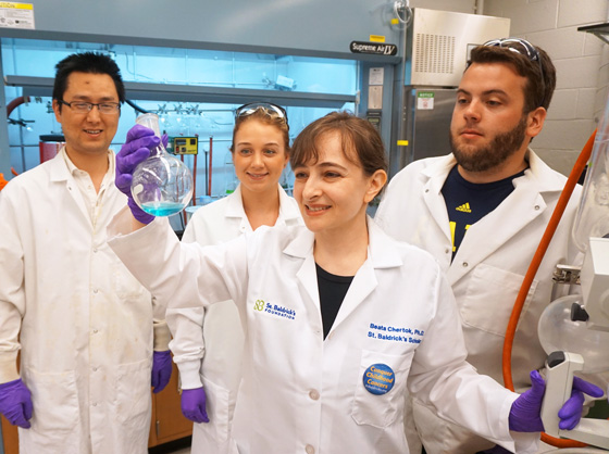 Dr. Chertok with her team in her University of Michigan lab