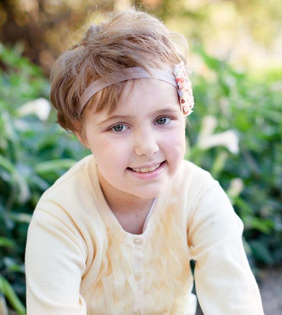 Avery wearing a headband