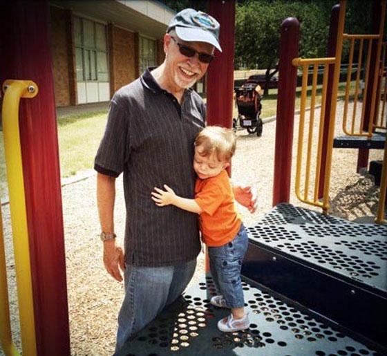 Ezra and Gary on the playground